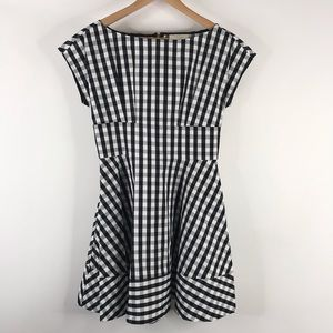 Kate Spade Dress Check Gingham Fiorella Fit Flare
